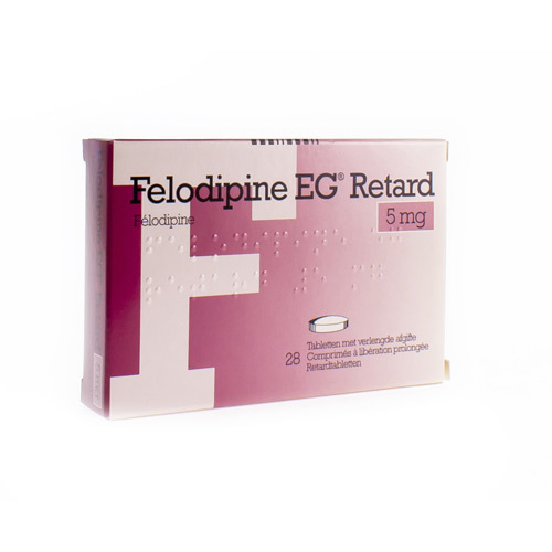 Felodipine EG Retard 5 Mg (28 Comprimes)