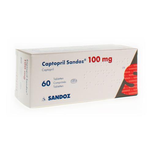 Captopril Sandoz 100 Mg  60 Comprimes