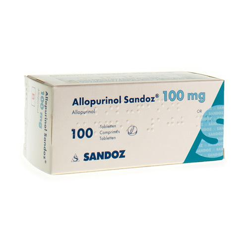 Allopurinol Sandoz 100 Mg  100 Comprimes