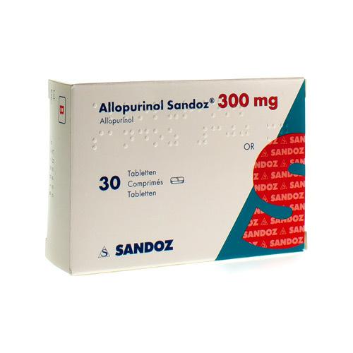 Allopurinol Sandoz 300 Mg  30 Comprimes