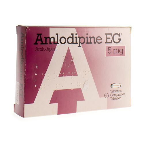 Amlodipine EG 5 Mg  56 Comprimes