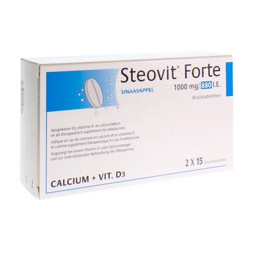 Steovit Forte 1000 Mg / 880 Ie (30 Bruistabletten)