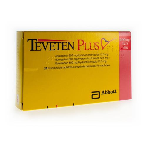 Teveten Plus 600 Mg / 12,5 Mg (28 Comprimes)