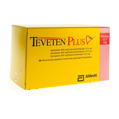 Teveten Plus 600 Mg / 12,5 Mg (98 Comprimes)