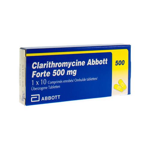 Clarithromycine Abbott Forte 500 Mg  10 Comprimes