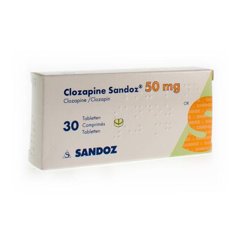 Clozapine Sandoz 50 Mg  30 Comprimes