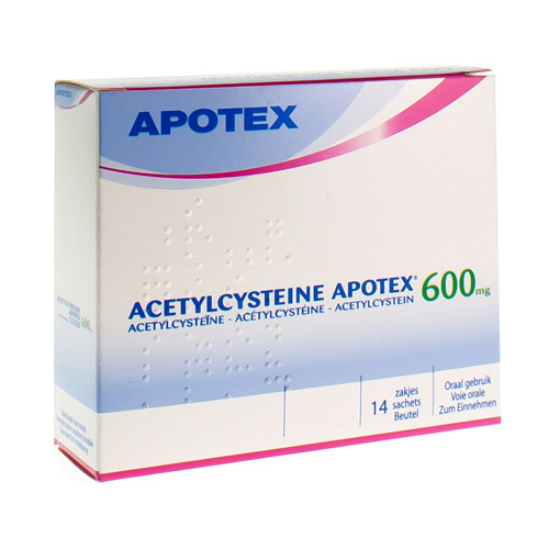 Acetylcysteine Apotex 600 Mg  14 Sachets