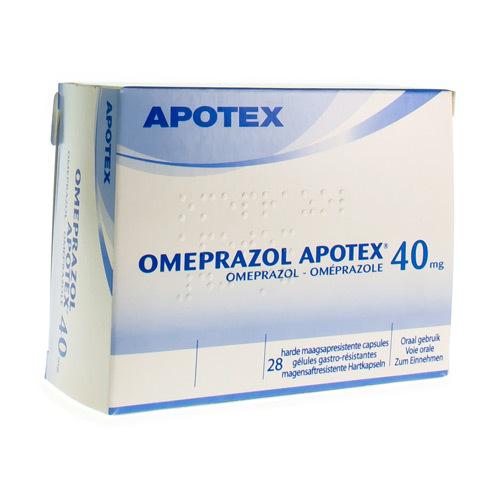 Omeprazole Apotex 40 Mg (28 Gelules)