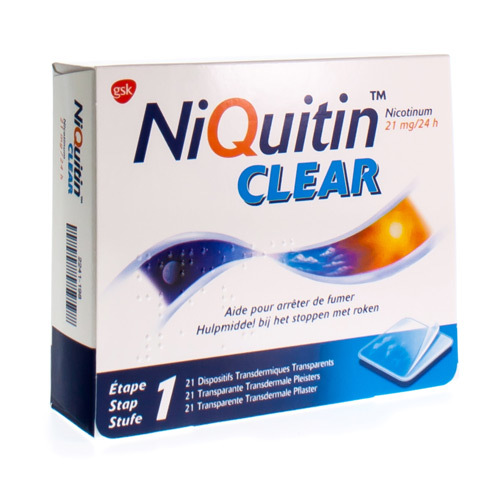 Niquitin Clear 21 Mg (21 Dispositifs)