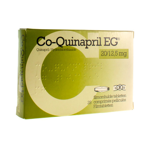 Co-Quinapril EG 20 Mg / 12,5 Mg  28 Comprimes