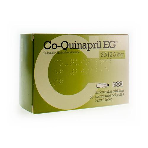 Co-Quinapril EG 20 Mg / 12,5 Mg  56 Comprimes