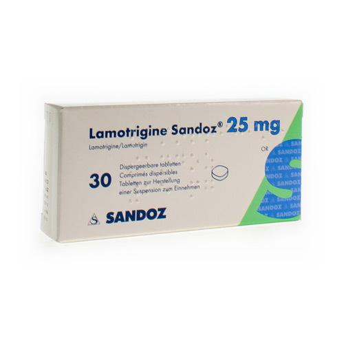 Lamotrigin Sandoz 25 Mg (30 Comprimes Dispersibles)