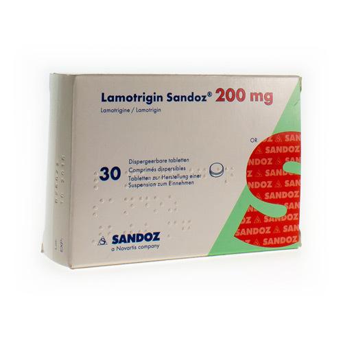 Lamotrigin Sandoz 200 Mg (30 Comprimes Dispersibles)