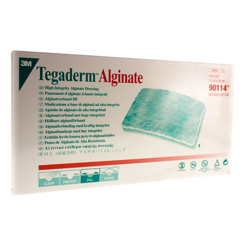 Tegaderm Alginate Steril 10 Cm X 20 Cm (5 Pieces)