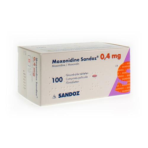Moxonidine Sandoz 0,4 Mg (100 Comprimes)