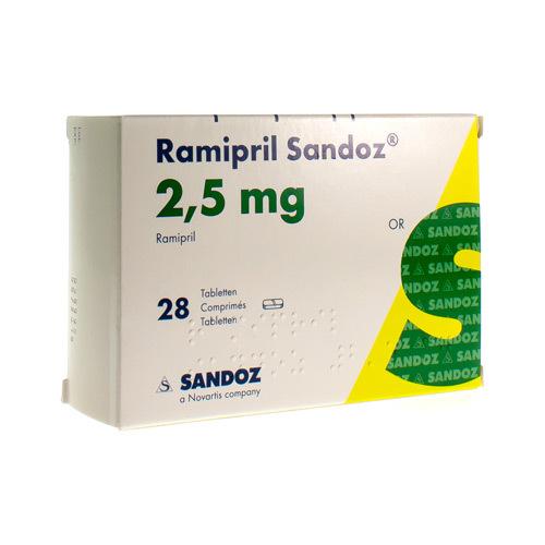Ramipril Sandoz 2,5 Mg (28 Comprimes)