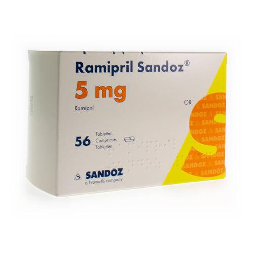 Ramipril Sandoz 5 Mg (56 Comprimes)