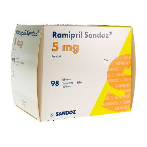 Ramipril Sandoz 5 Mg (98 Comprimes)