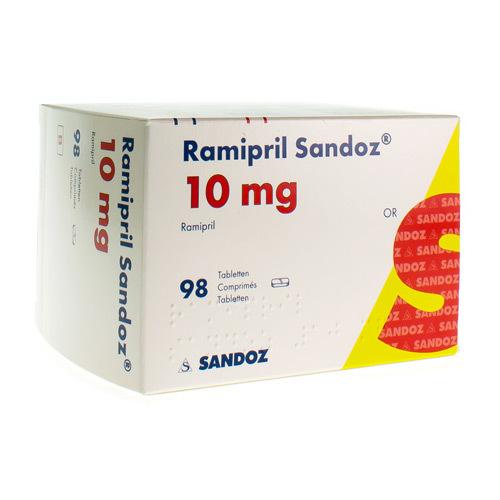 Ramipril Sandoz 10 Mg (98 Comprimes)