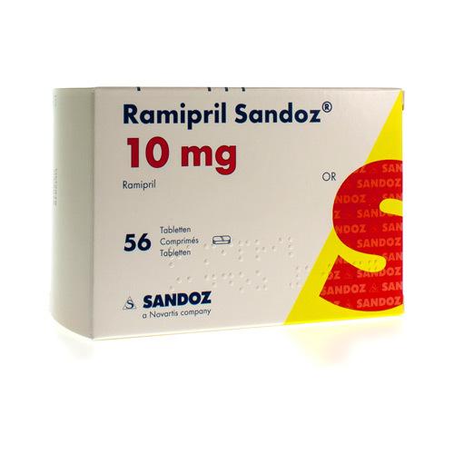 Ramipril Sandoz 10 Mg (56 Comprimes)