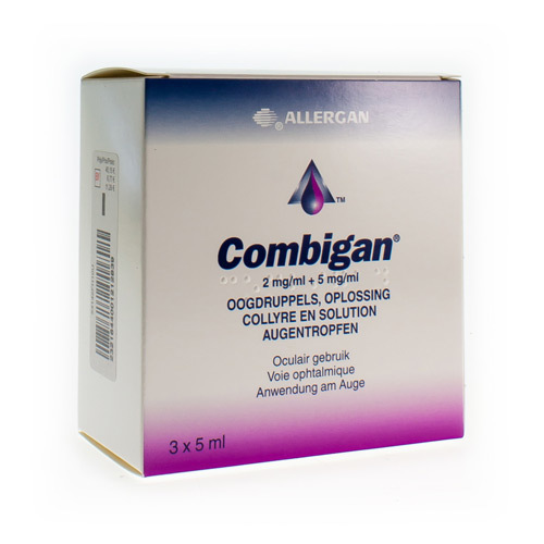 Combigan Collyre  3 X 5 Ml