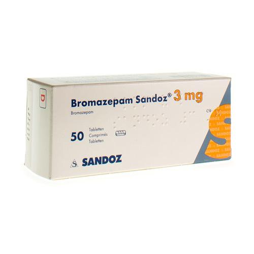 Bromazepam Sandoz 3 Mg  50 Comprimes
