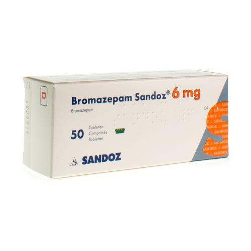 Bromazepam Sandoz 6 Mg  50 Comprimes