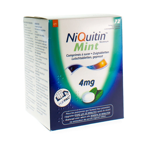 Niquitin Mint 4 Mg (72 Zuigtabletten)