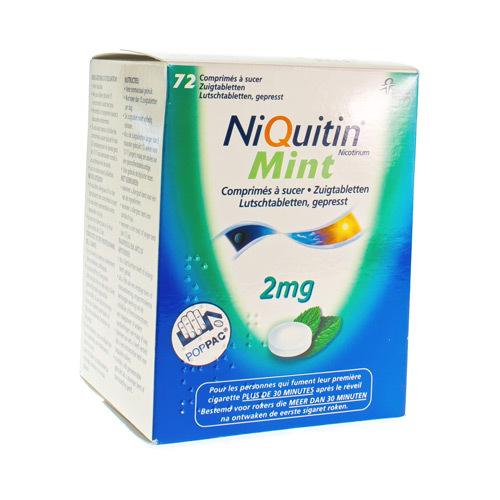 Niquitin Mint 2 Mg (72 Zuigtabletten)