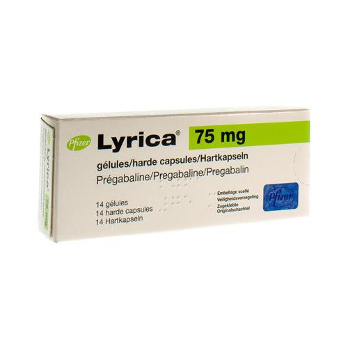Lyrica 75 Mg (14 Gelules)