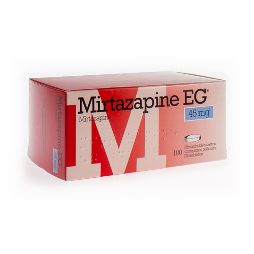 Mirtazapine EG 45 Mg (100 Comprimes)