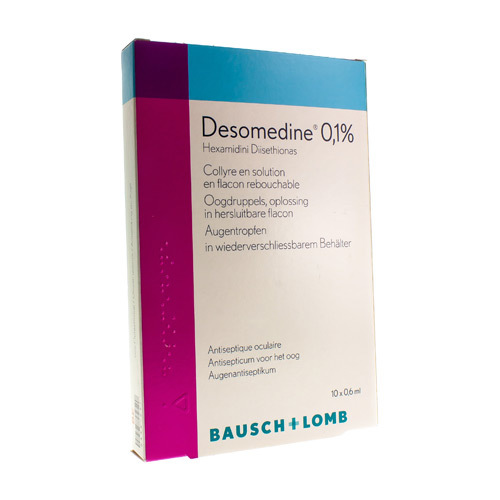 Desomedine Collyre 0,1 %  10 X 0,6 Ml