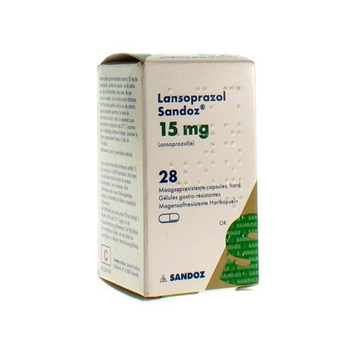 Lansoprazol Sandoz 15 Mg (28 Gelules)