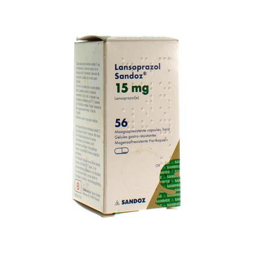 Lansoprazol Sandoz 15 Mg (56 Gelules)