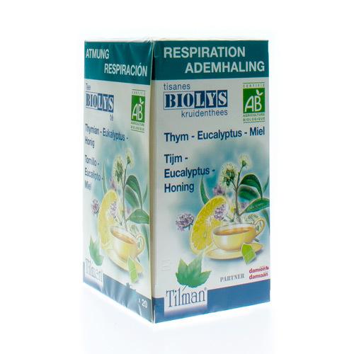 Biolys Thym Eucalyptus Miel Bio  20 Tea-Bags