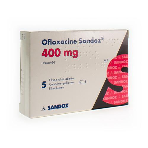 Ofloxacine Sandoz 400 Mg 5Comp