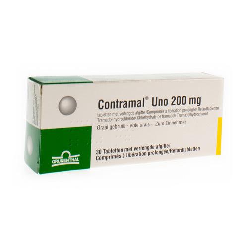 Contramal Uno 200 Mg  30 Comprimes