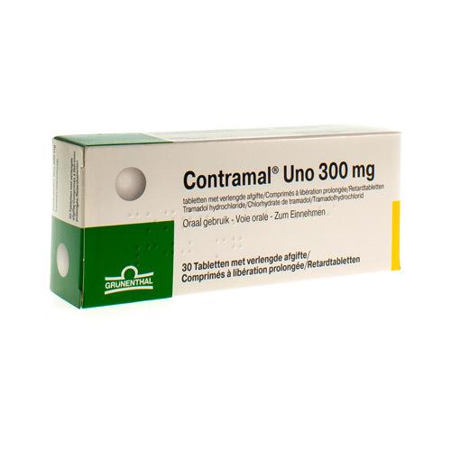 Contramal Uno 300 Mg  30 Comprimes