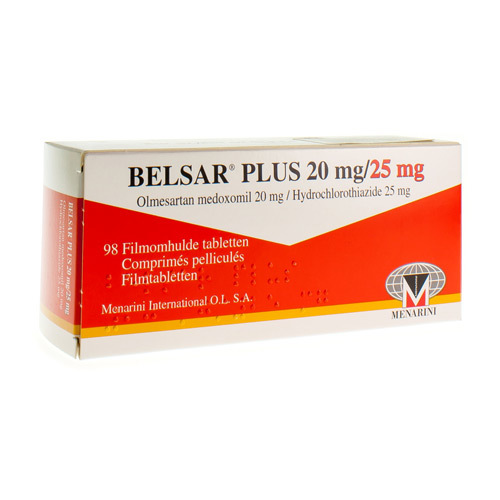 Belsar Plus 20 Mg / 25 Mg  98 Comprimes