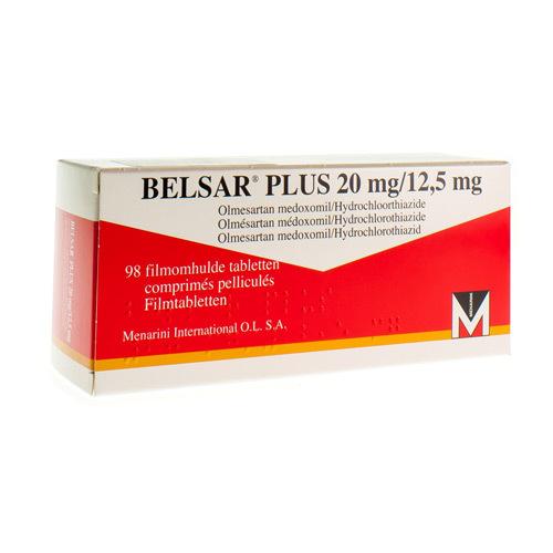 Belsar Plus 20 Mg / 12,5 Mg  98 Comprimes