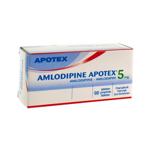 Amlodipine Apotex 5 Mg  98 Comprimes