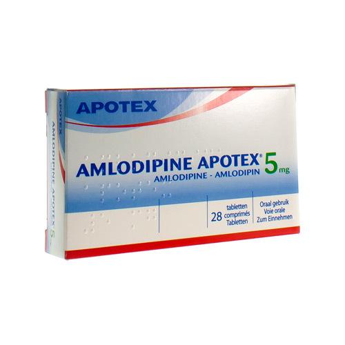 Amlodipine Apotex 5 Mg  28 Comprimes