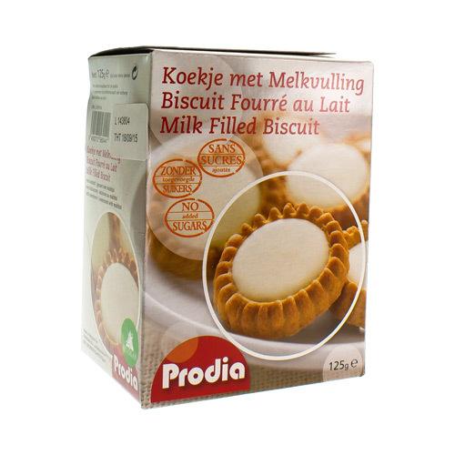 Prodia Biscuits Fourres Au Lait 125G