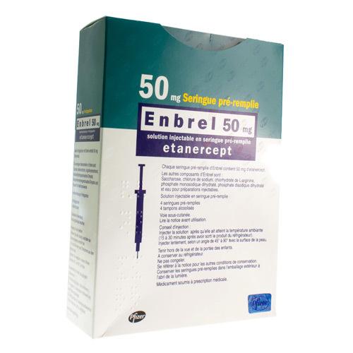 Enbrel 50 Mg (4 Seringues)