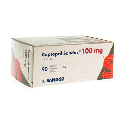 Captopril Sandoz 100 Mg  90 Comprimes