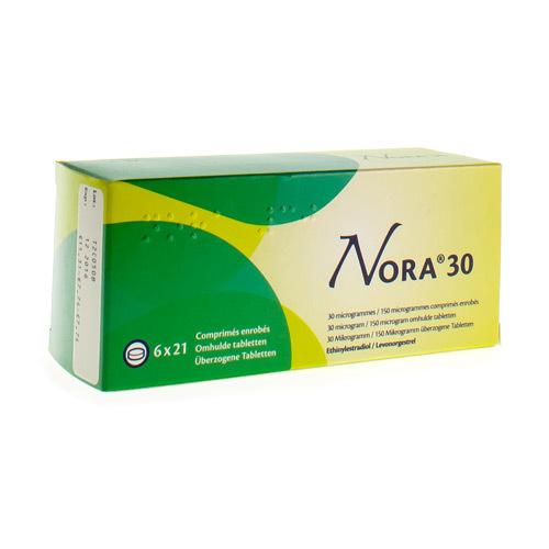 Nora 30 Mcg / 150 Mcg (6 X 21 Comprimes)