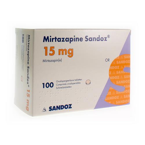 Mirtazapine Sandoz 15 Mg (100 Comprimes Orodispersibles)