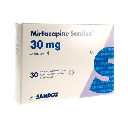 Mirtazapine Sandoz 30 Mg (30 Comprimes Orodispersibles)