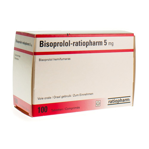Bisoprolol Ratiopharm Comp 100 X 5 mg