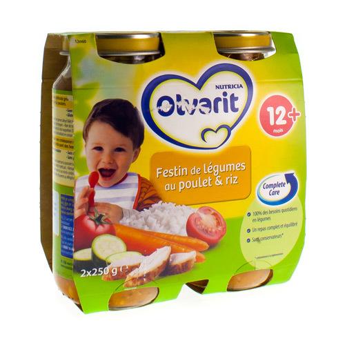 Olvarit Festin Legumes Riz Poulet 12M (2 X 250 Grammes)